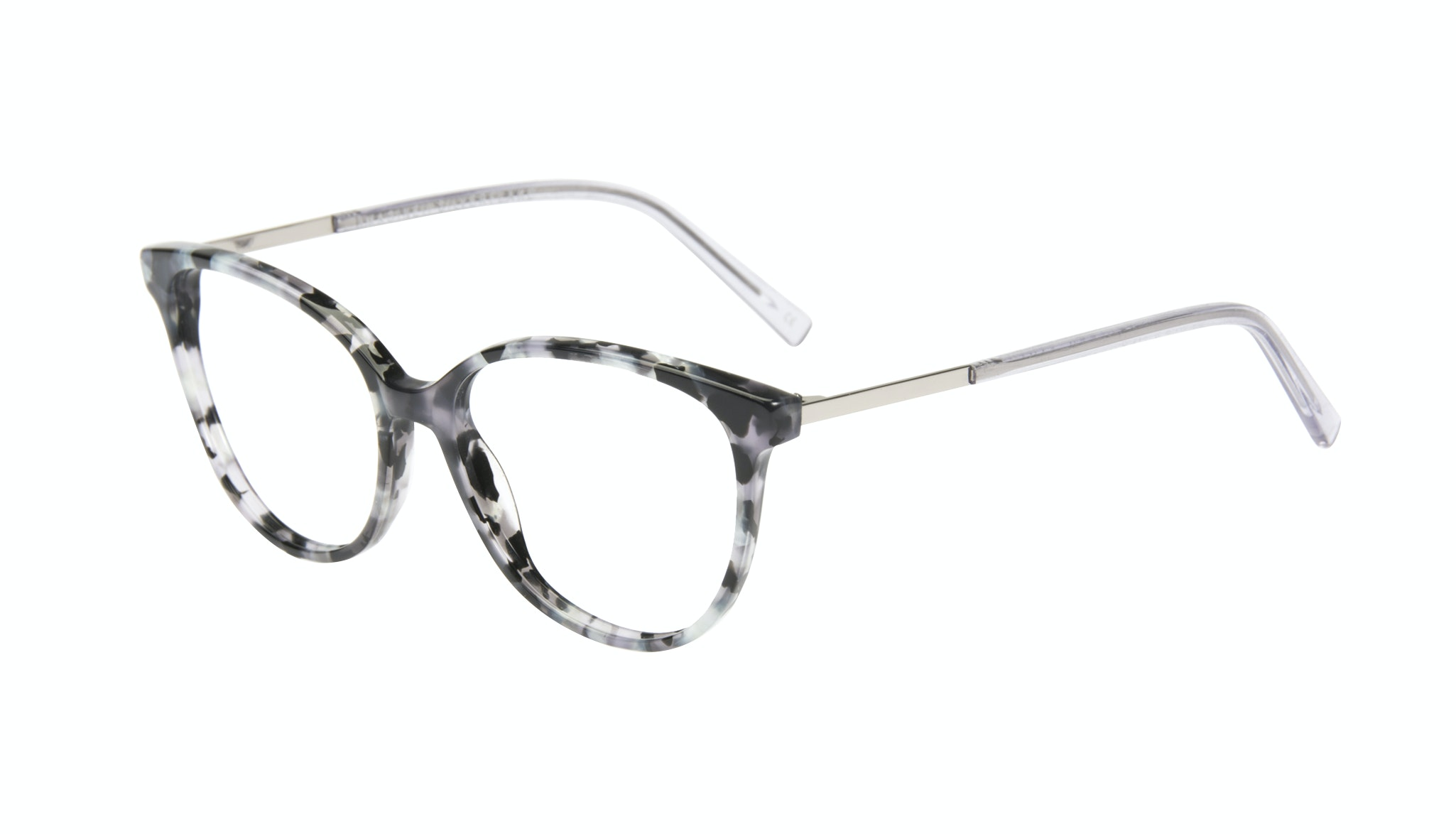 Affordable Fashion Glasses Cat Eye Eyeglasses Women Imagine II silver flake Tilt