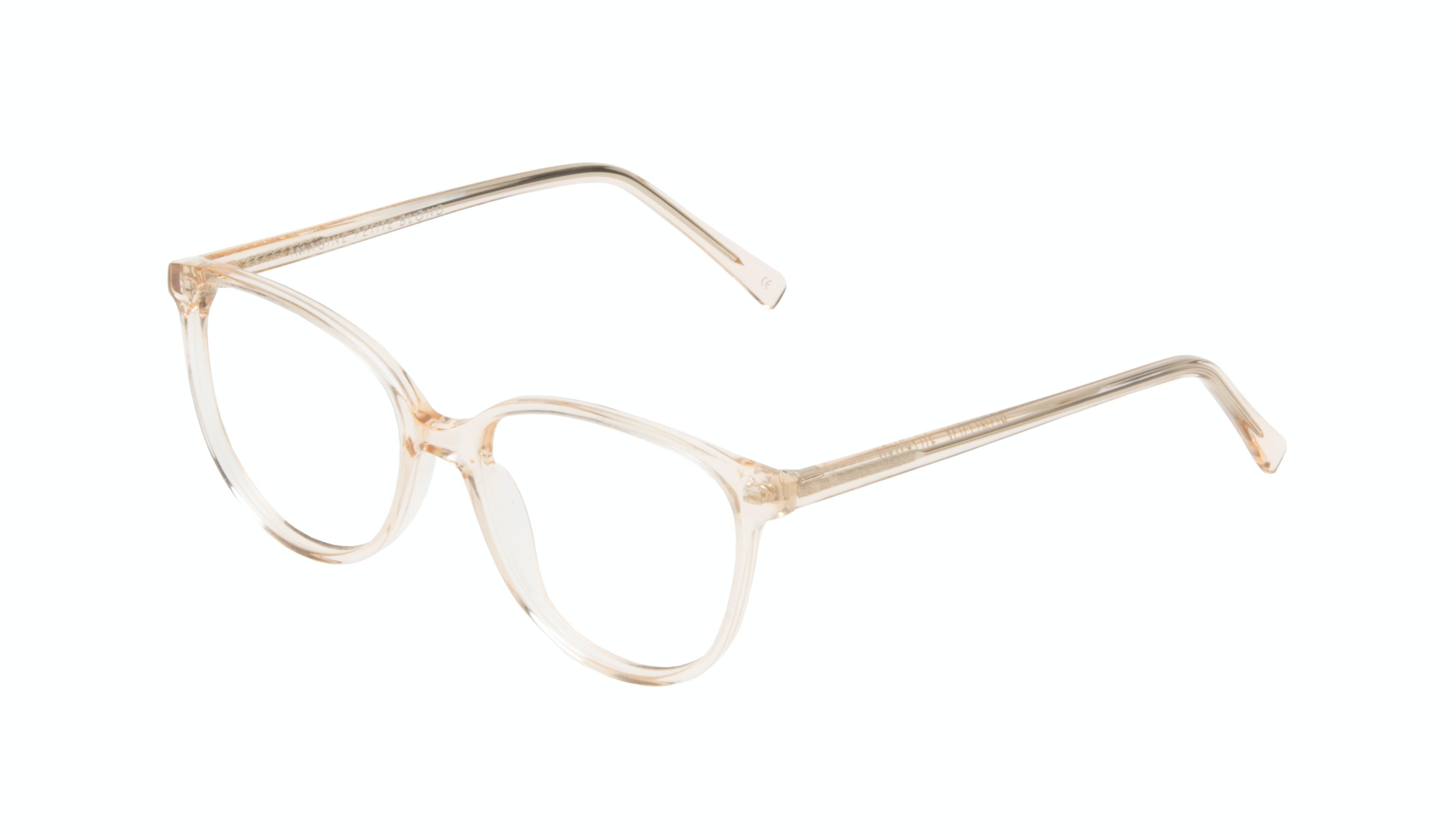 Affordable Fashion Glasses Round Eyeglasses Women Imagine Petite Blond Tilt