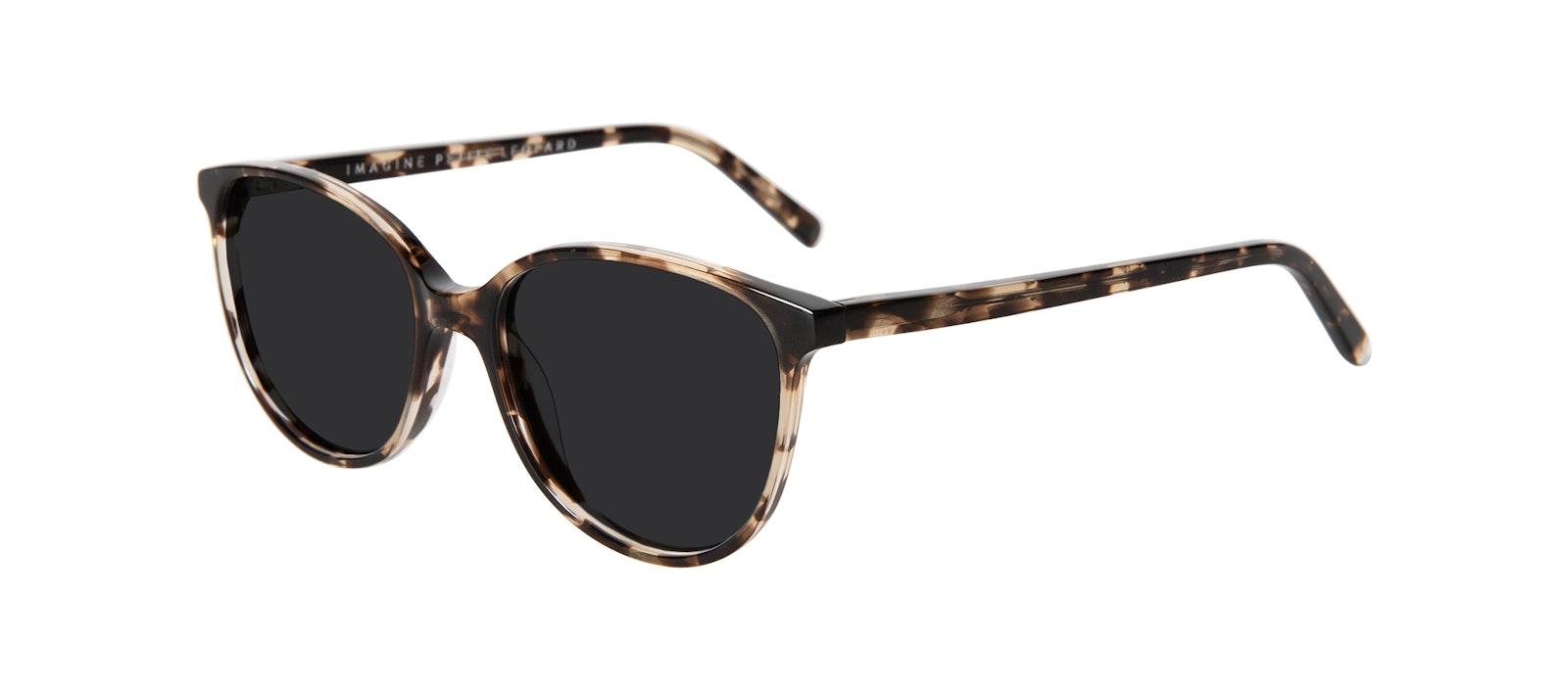 Affordable Fashion Glasses Round Sunglasses Women Imagine Petite Leopard Tilt