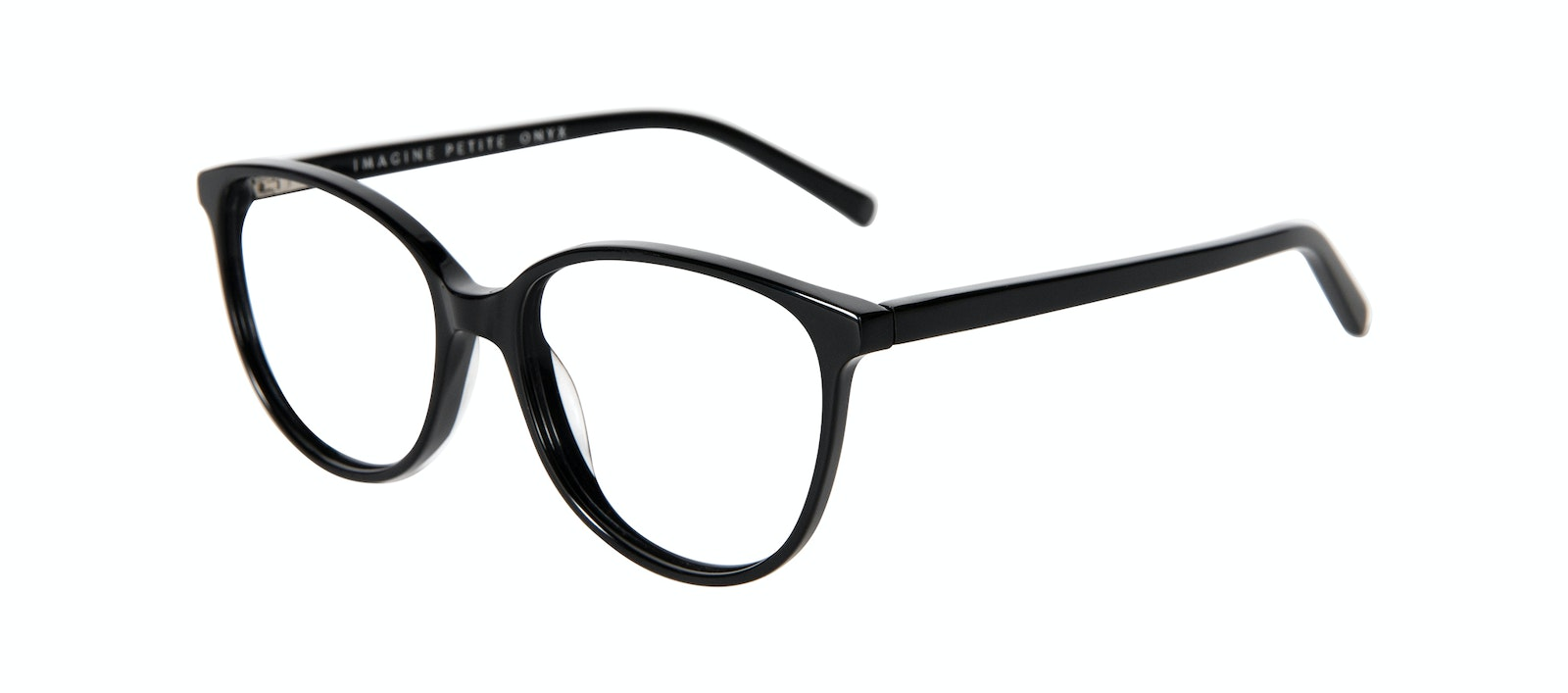 Affordable Fashion Glasses Round Eyeglasses Women Imagine Petite Onyx Tilt