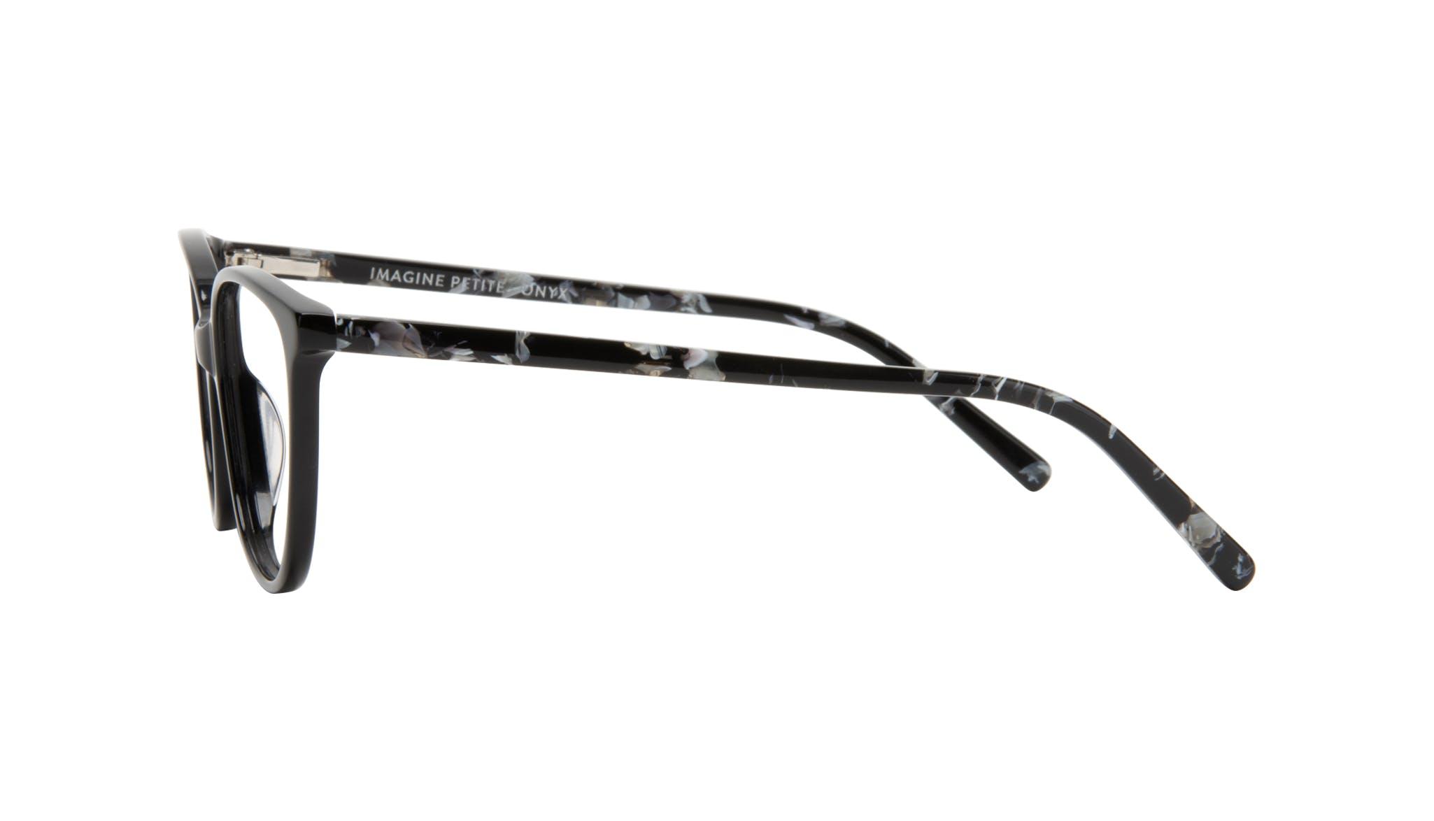 Affordable Fashion Glasses Round Eyeglasses Women Imagine Petite Onyx Side