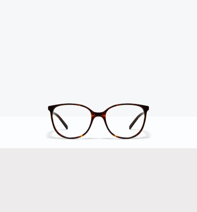 Affordable Fashion Glasses Round Eyeglasses Women Imagine Petite Sepia Kiss Front