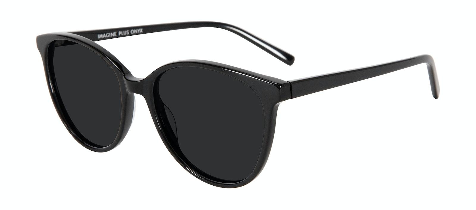 Affordable Fashion Glasses Cat Eye Sunglasses Women Imagine Plus Onyx Tilt