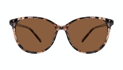 Affordable Fashion Glasses Cat Eye Sunglasses Women Imagine XL Pink Tortoise Front