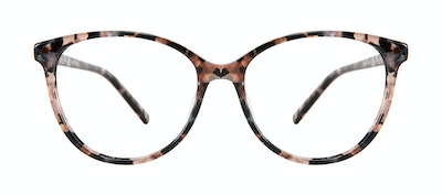 Affordable Fashion Glasses Cat Eye Eyeglasses Women Imagine XL Pink Tortoise Front