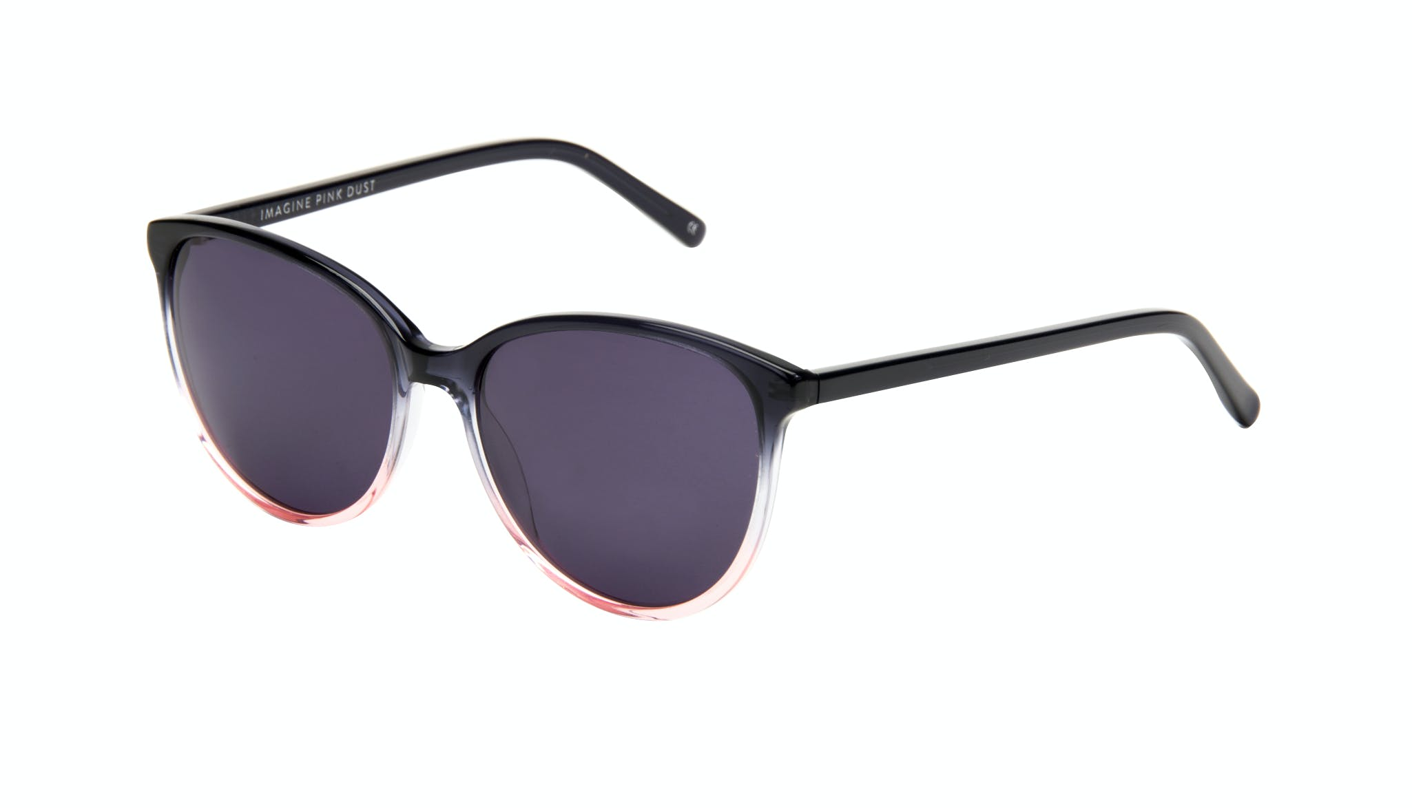 Lunettes tendance Oeil de chat Ronde Lunettes de soleil Femmes Imagine Pink Dust Incliné