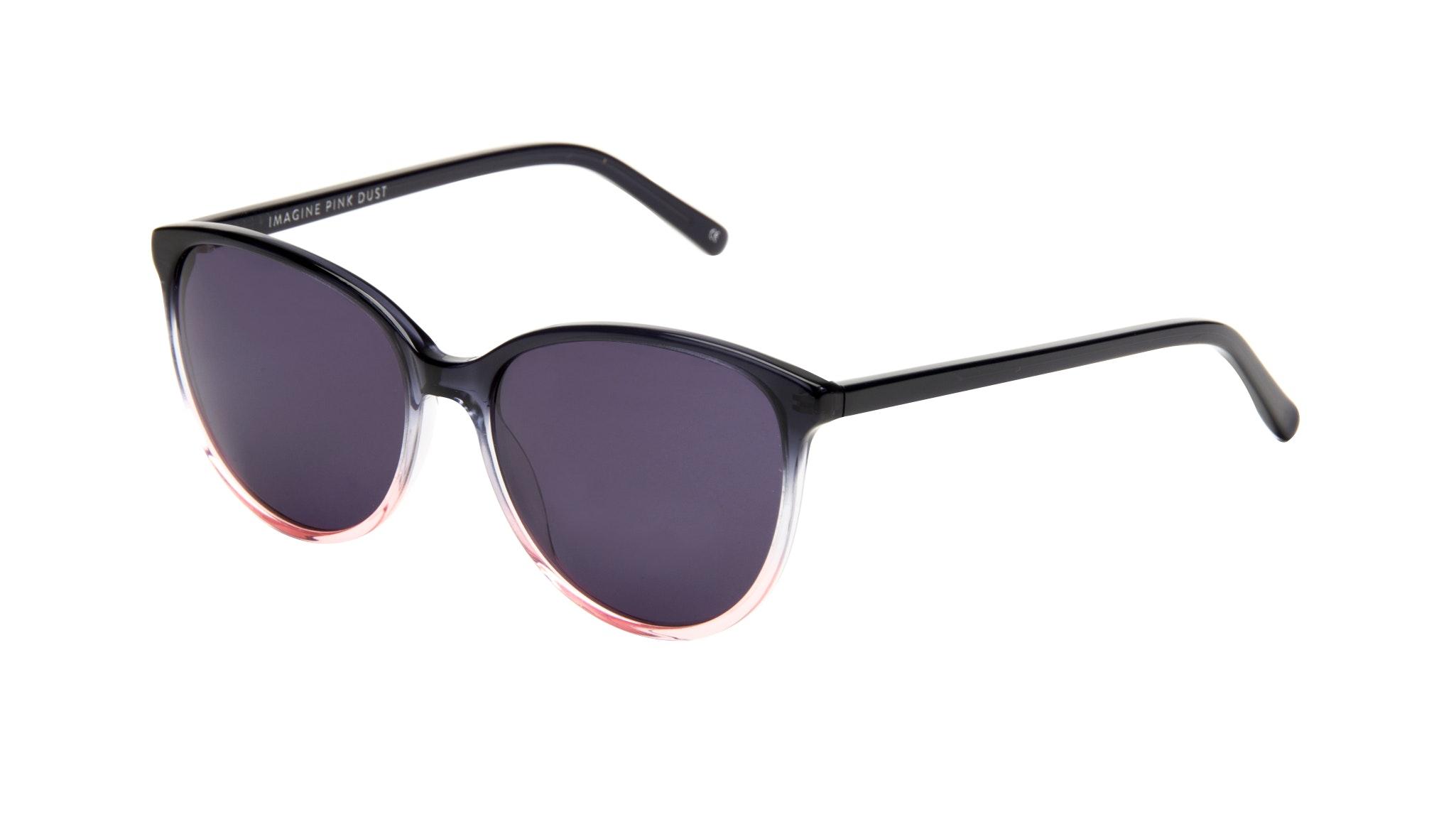Affordable Fashion Glasses Round Sunglasses Women Imagine Pink Dust Tilt