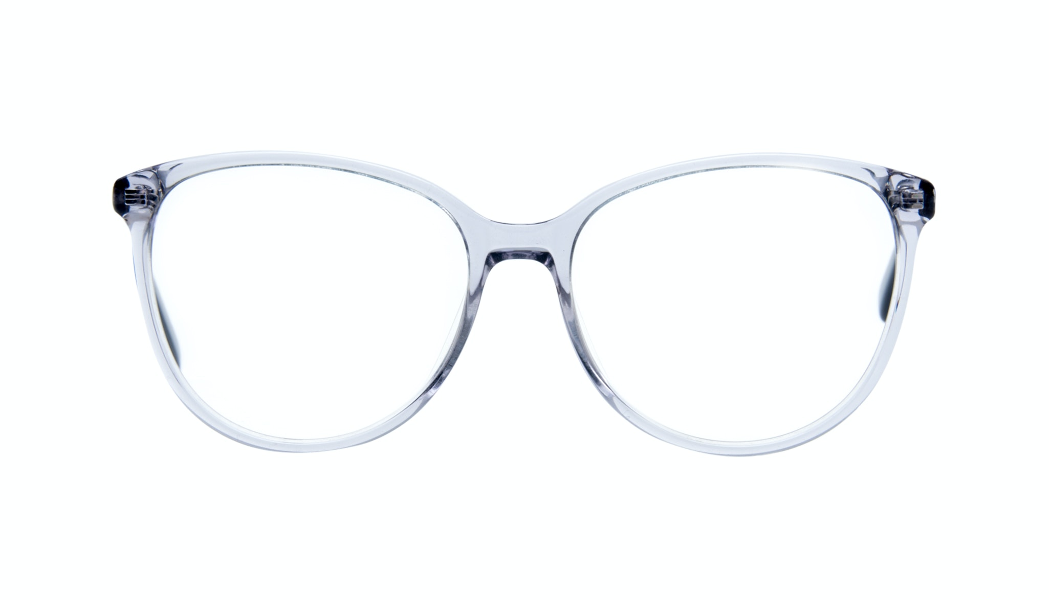 Affordable Fashion Glasses Cat Eye Round Eyeglasses Women Imagine Grey Metal Front