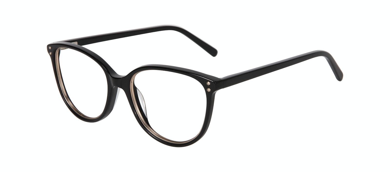 Affordable Fashion Glasses Cat Eye Eyeglasses Women Imagine Petite Shine Onyx Tilt