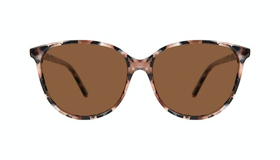 Affordable Fashion Glasses Cat Eye Sunglasses Women Imagine Pink Tortoise Front