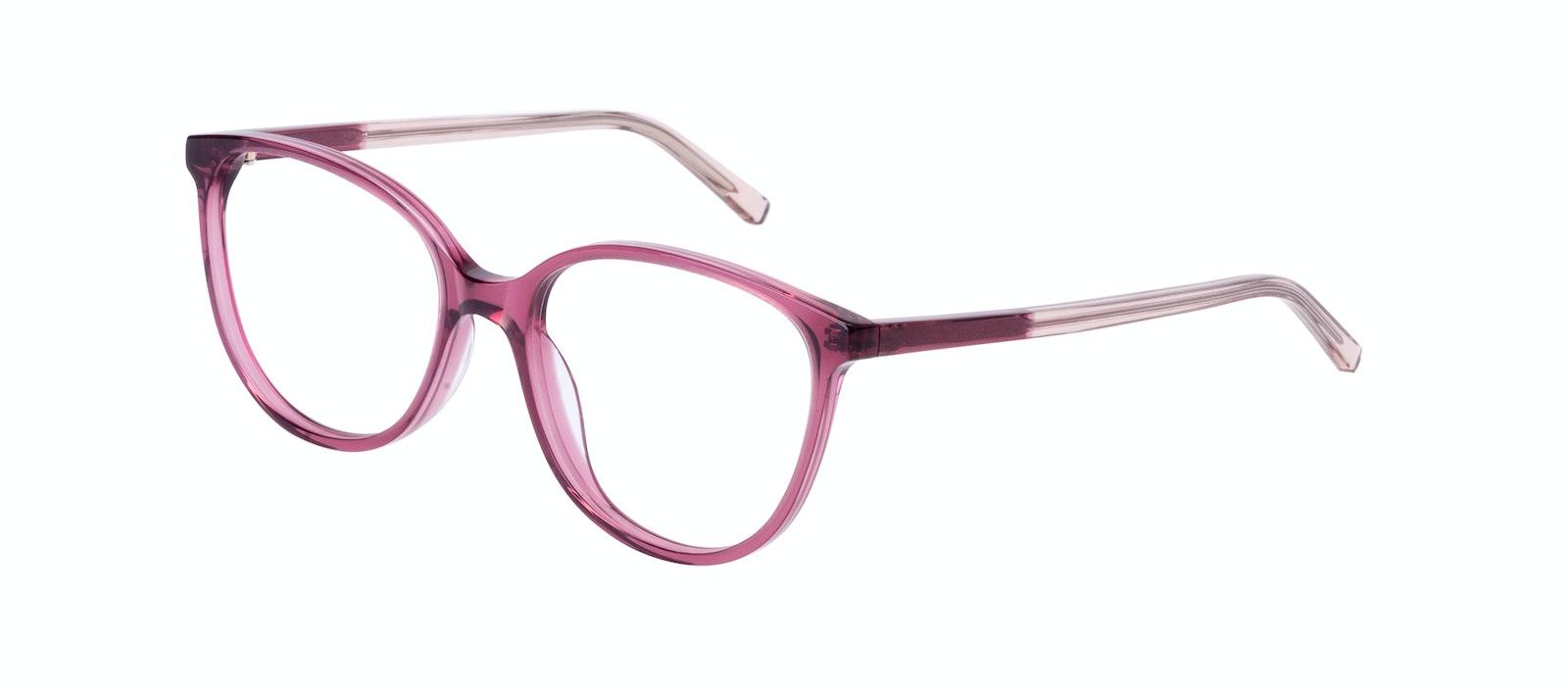 Affordable Fashion Glasses Round Eyeglasses Women Imagine Petite Berry Tilt
