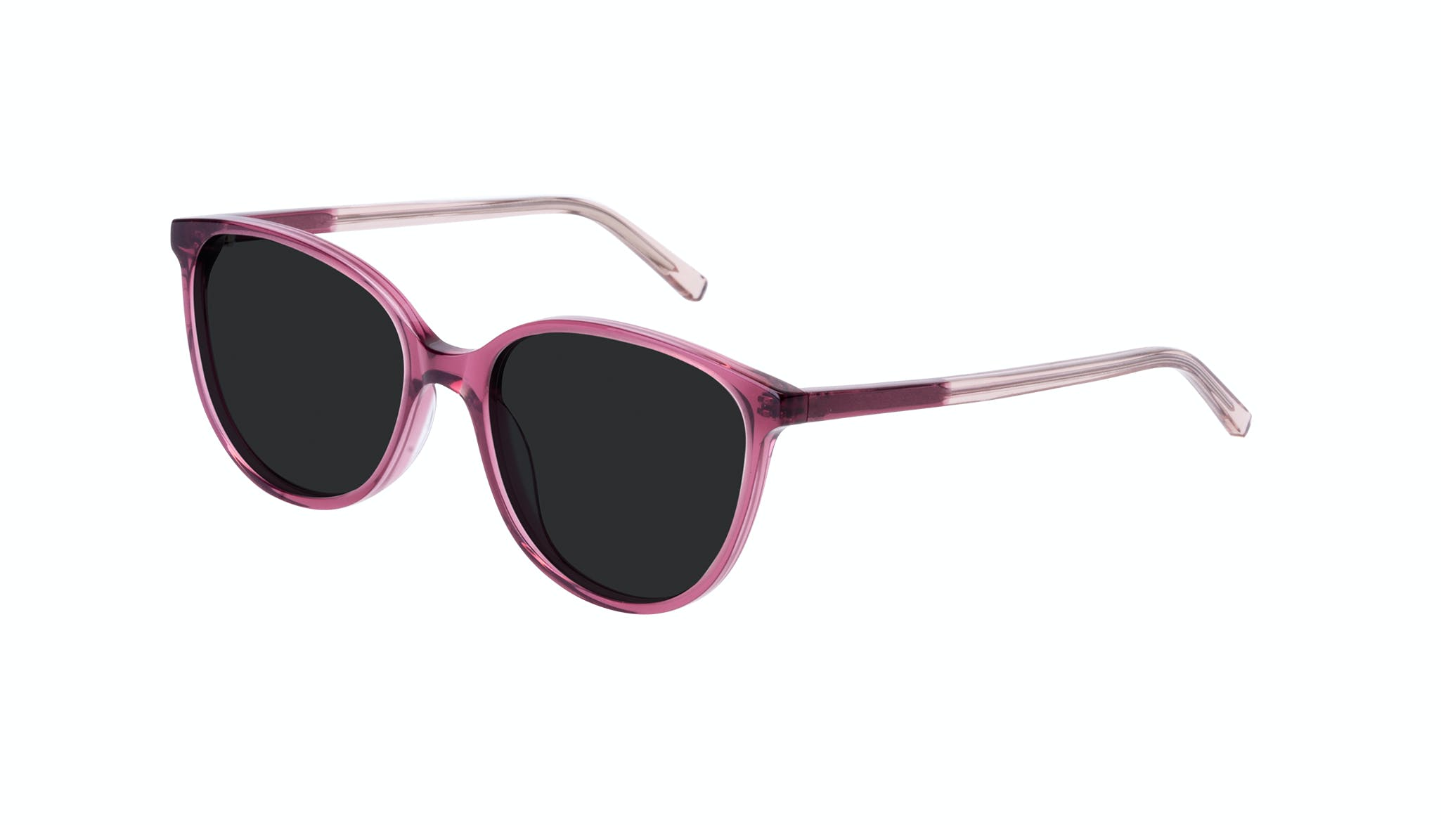 Affordable Fashion Glasses Round Sunglasses Women Imagine Petite Berry Tilt