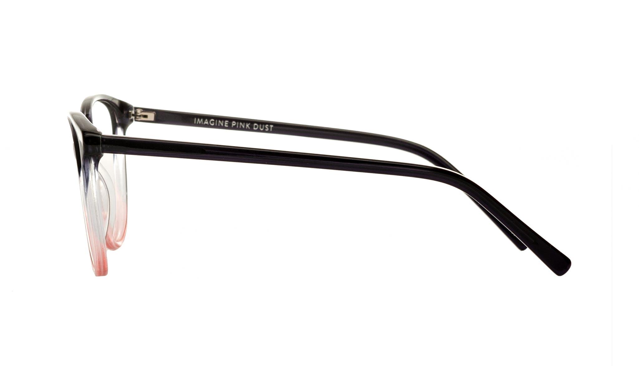 Affordable Fashion Glasses Round Eyeglasses Women Imagine Pink Dust Side