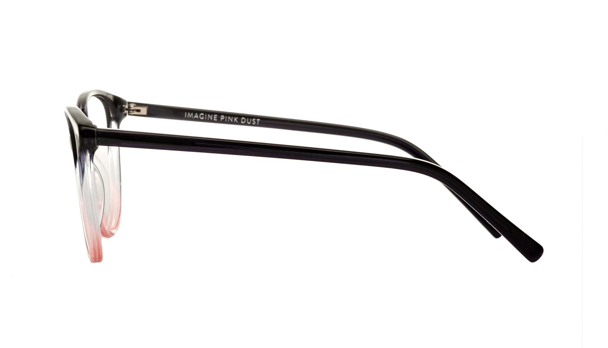 Affordable Fashion Glasses Cat Eye Round Eyeglasses Women Imagine Pink Dust Side