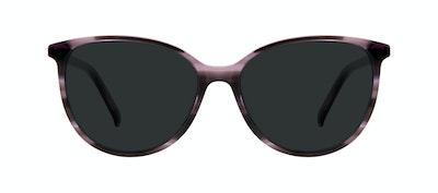 Lunettes tendance Oeil de chat Lunettes de soleil Femmes Imagine Leopard Purple Face