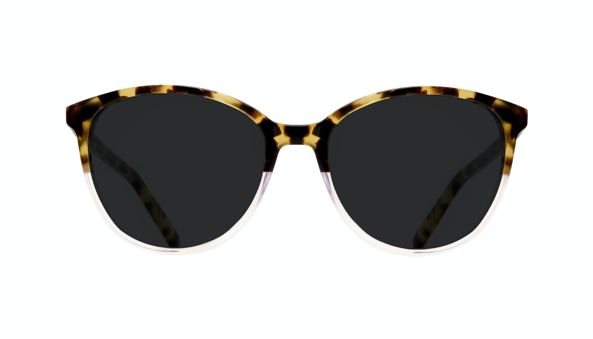Affordable Fashion Glasses Cat Eye Round Sunglasses Women Imagine Blond Tort Front