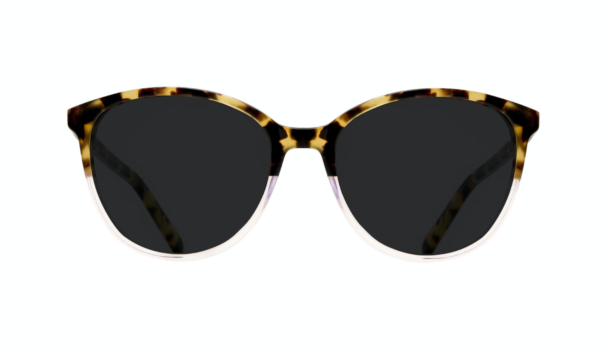Affordable Fashion Glasses Cat Eye Round Sunglasses Women Imagine Blond Tort Front