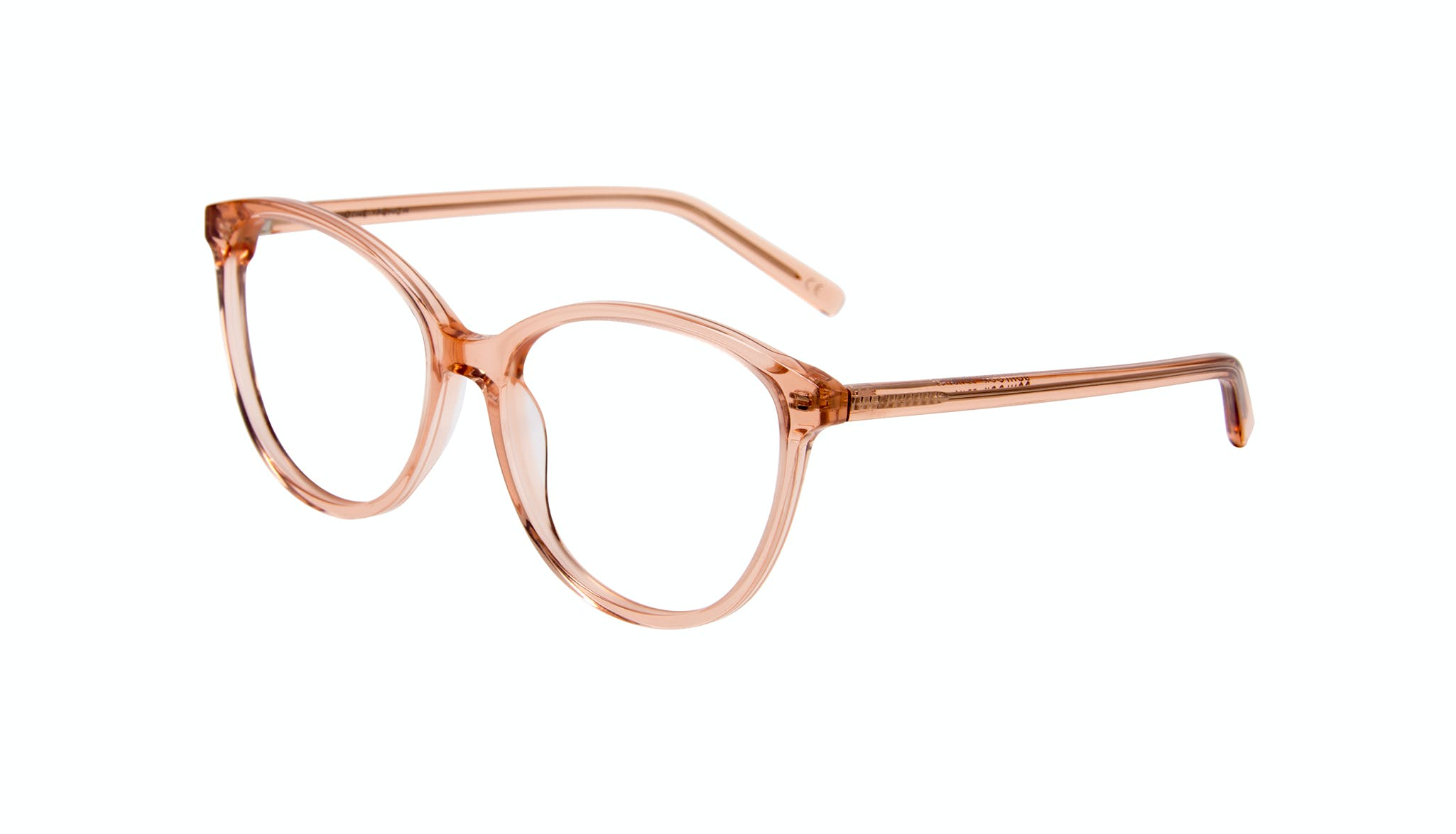 Affordable Fashion Glasses Cat Eye Round Eyeglasses Women Imagine Peach Tilt