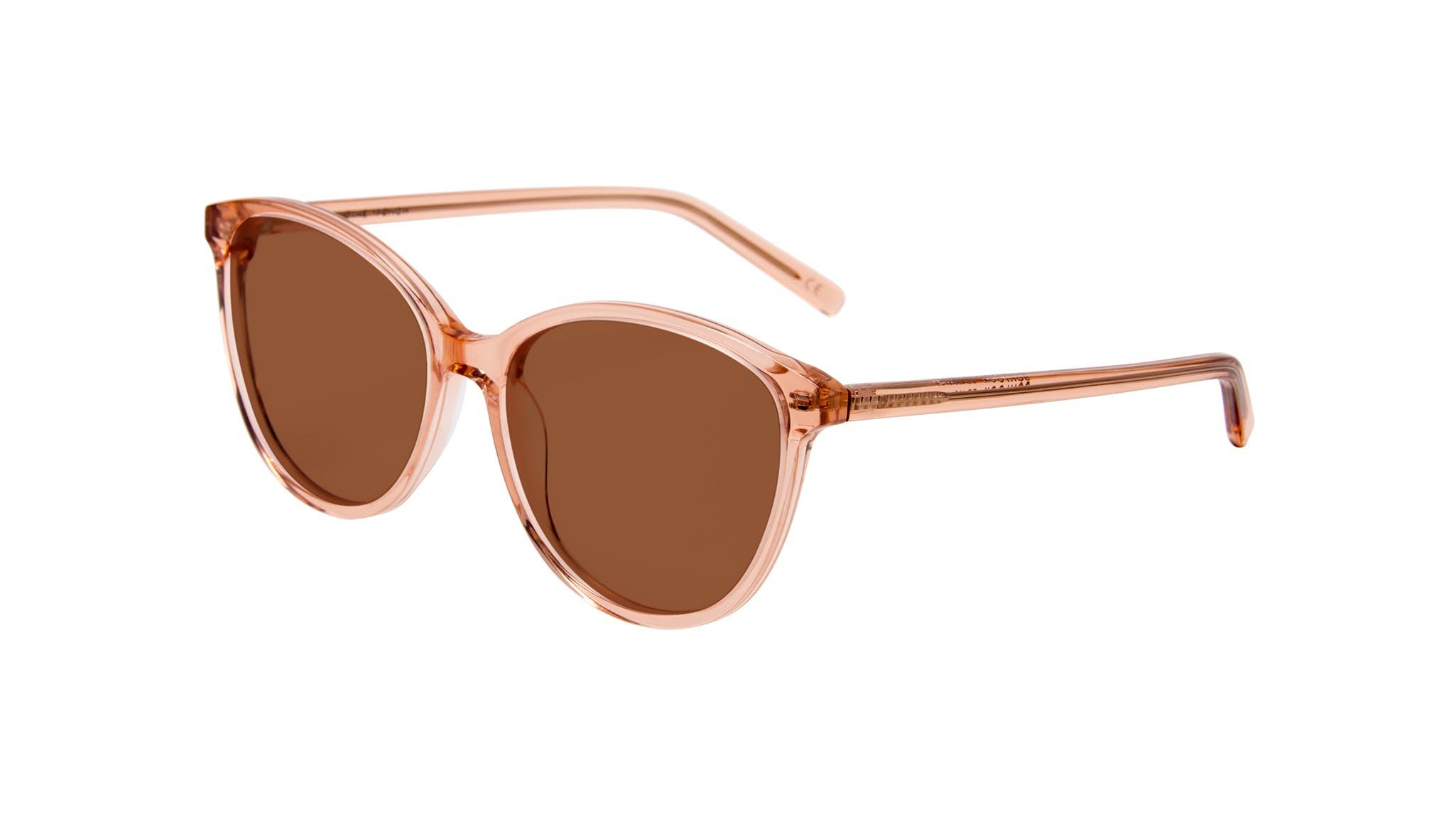 Affordable Fashion Glasses Cat Eye Round Sunglasses Women Imagine Peach Tilt
