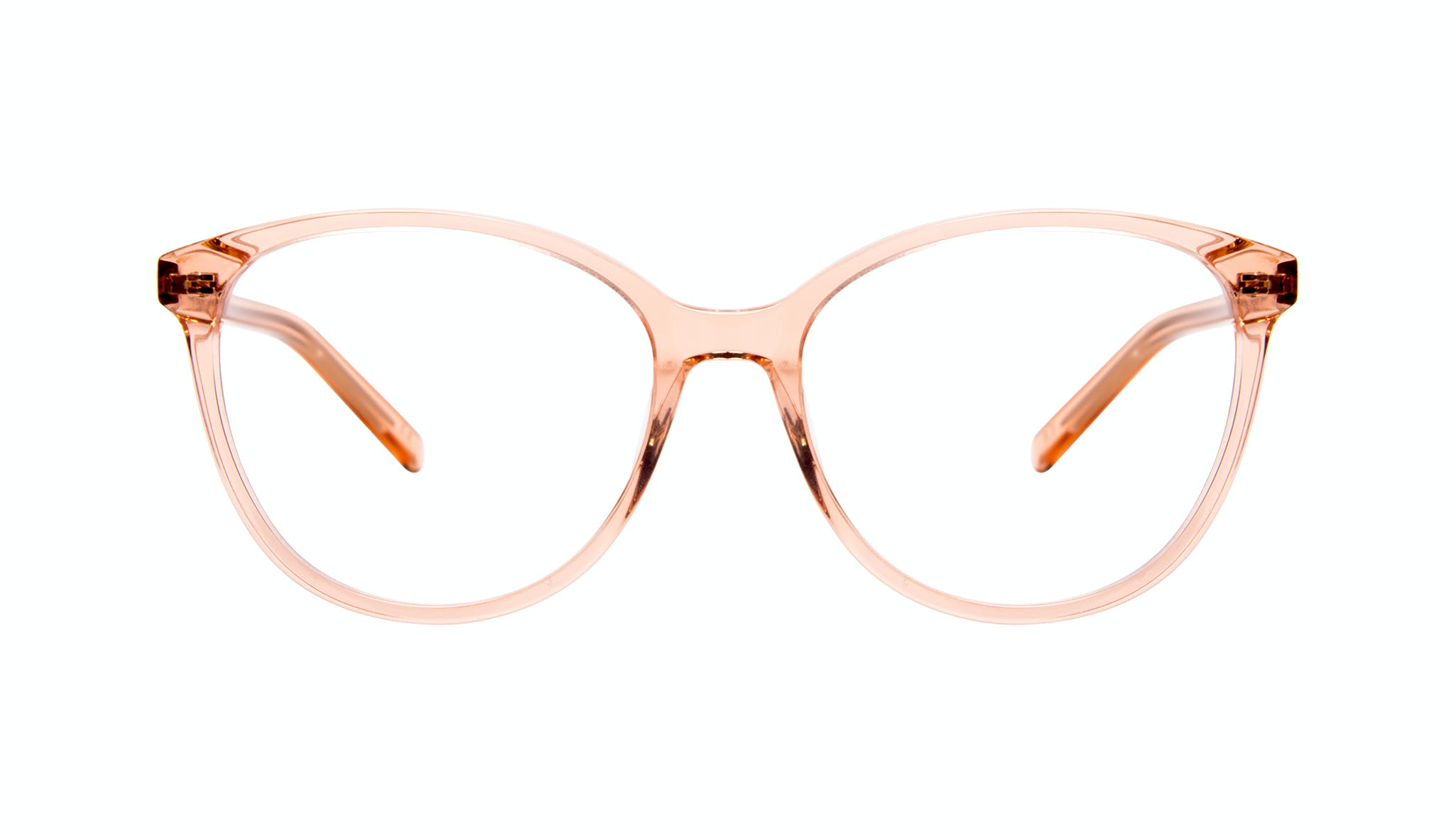 Affordable Fashion Glasses Cat Eye Round Eyeglasses Women Imagine Peach Front