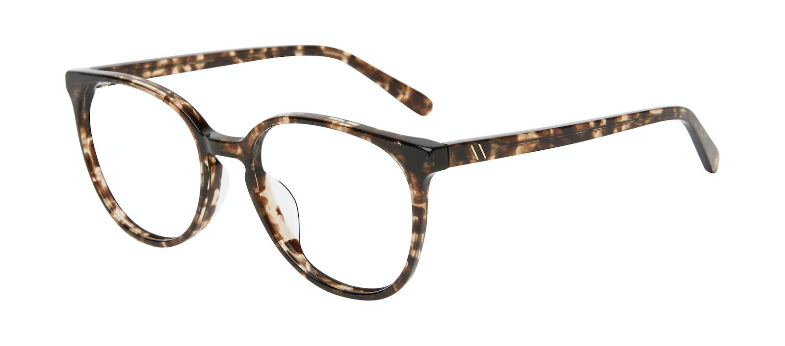 Affordable Fashion Glasses Round Eyeglasses Women Impression Leopard Tilt