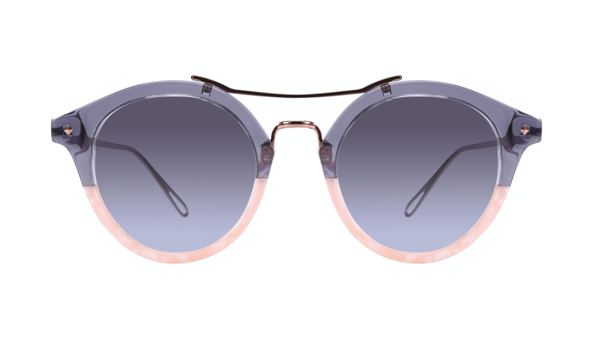 Affordable Fashion Glasses Round Sunglasses Women Infinite Rose Shadow Front