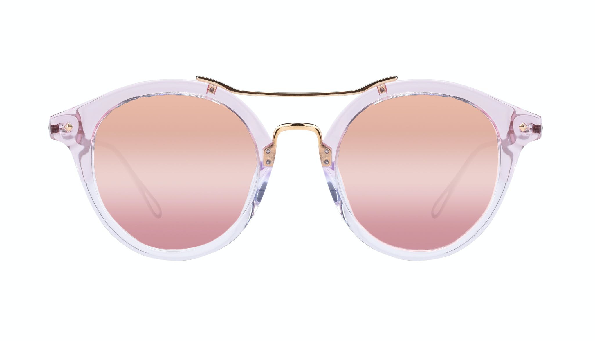 Affordable Fashion Glasses Round Sunglasses Women Infinite Rose
