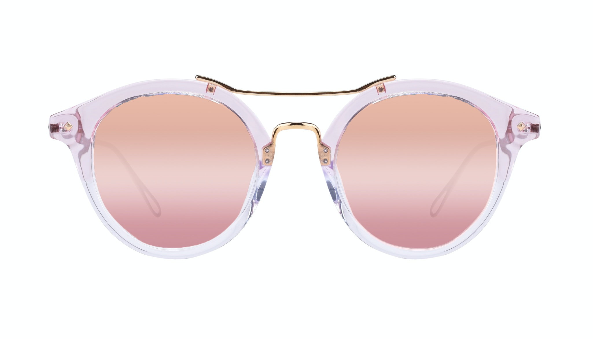 Affordable Fashion Glasses Round Sunglasses Women Infinite Rose Front