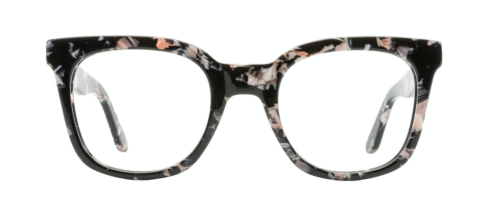 Affordable Fashion Glasses Rectangle Square Eyeglasses Women Jack & Norma Licorice Front