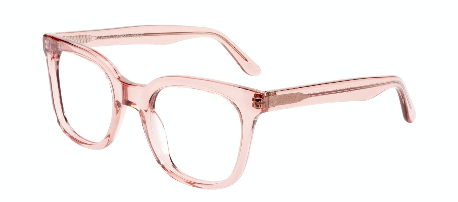 Affordable Fashion Glasses Rectangle Square Eyeglasses Women Jack & Norma Rose Tilt