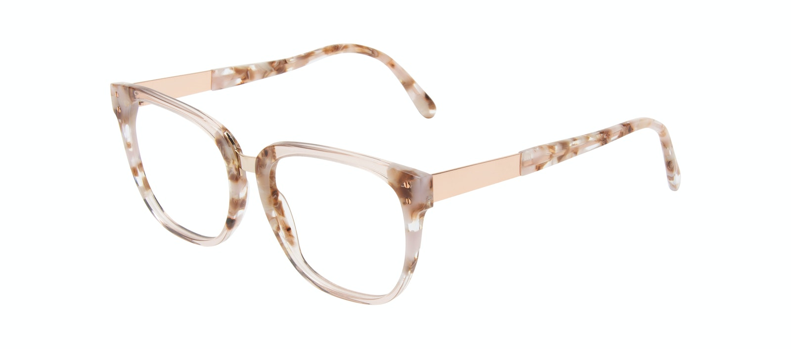 Affordable Fashion Glasses Square Eyeglasses Women James Dusty Rose Tilt