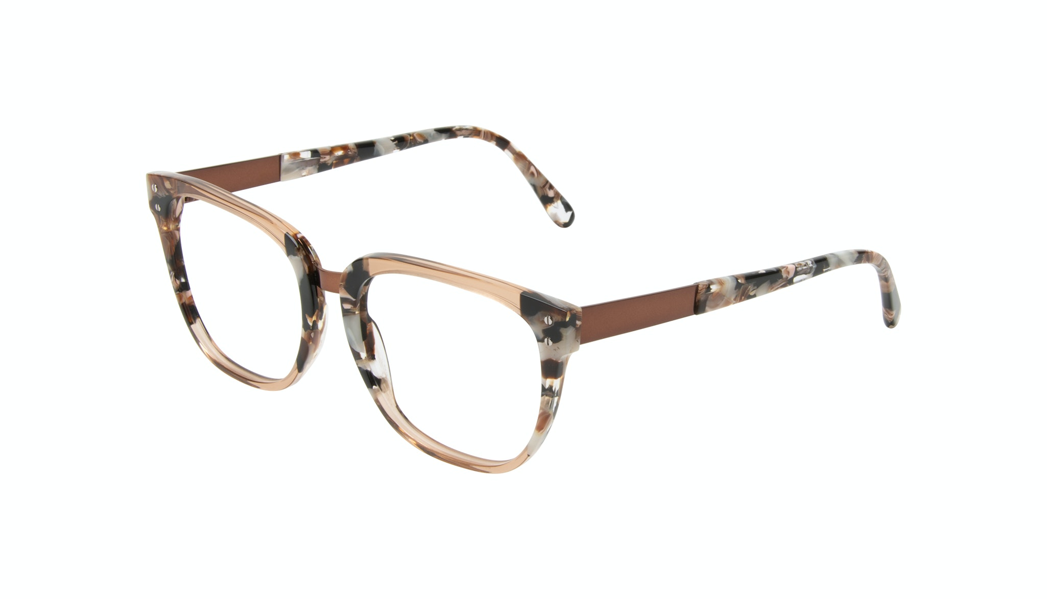 Affordable Fashion Glasses Square Eyeglasses Women James Toffee Marble Tilt