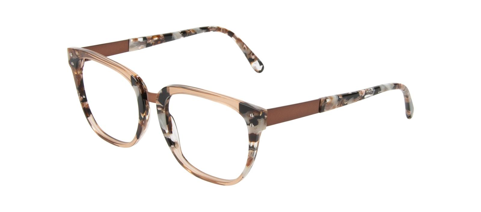 Affordable Fashion Glasses Square Eyeglasses Women James Toffee Marble Tilt