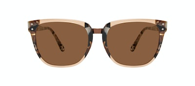 Affordable Fashion Glasses Square Sunglasses Women James Toffee Marble Front