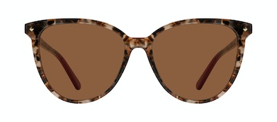 Affordable Fashion Glasses Round Sunglasses Women Jane Pink Tortoise Front