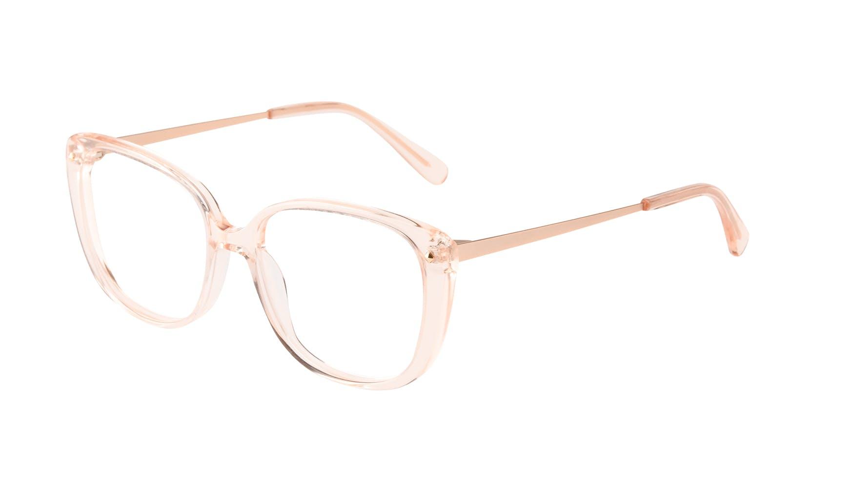 Lunettes tendance Carrée Lunettes de vue Femmes Japonisme Blond Incliné