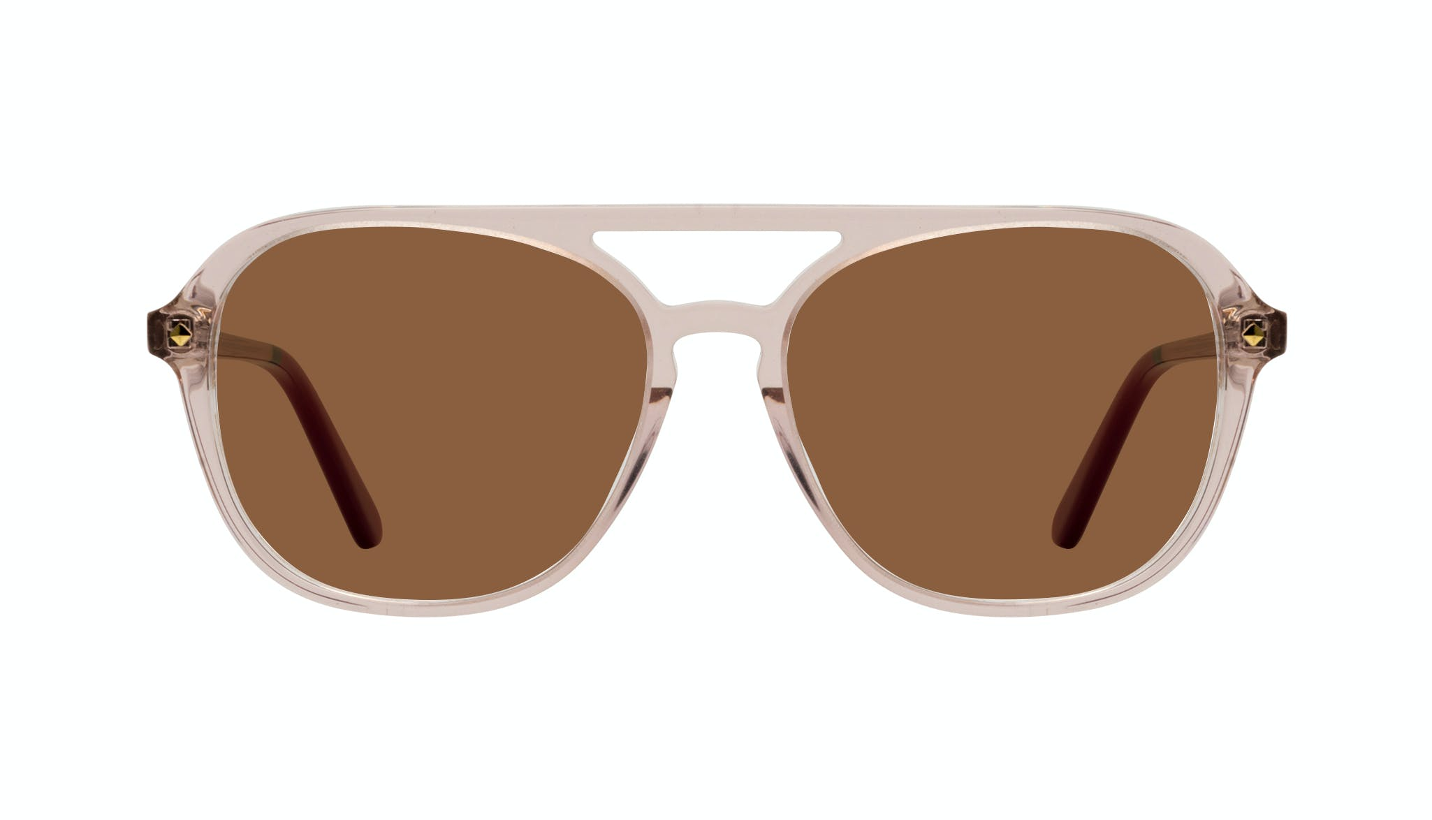 Affordable Fashion Glasses Aviator Sunglasses Women Jerry Rose Front