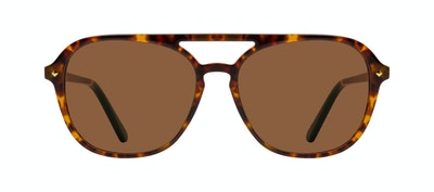 Affordable Fashion Glasses Aviator Sunglasses Women Jerry Tortoise Front