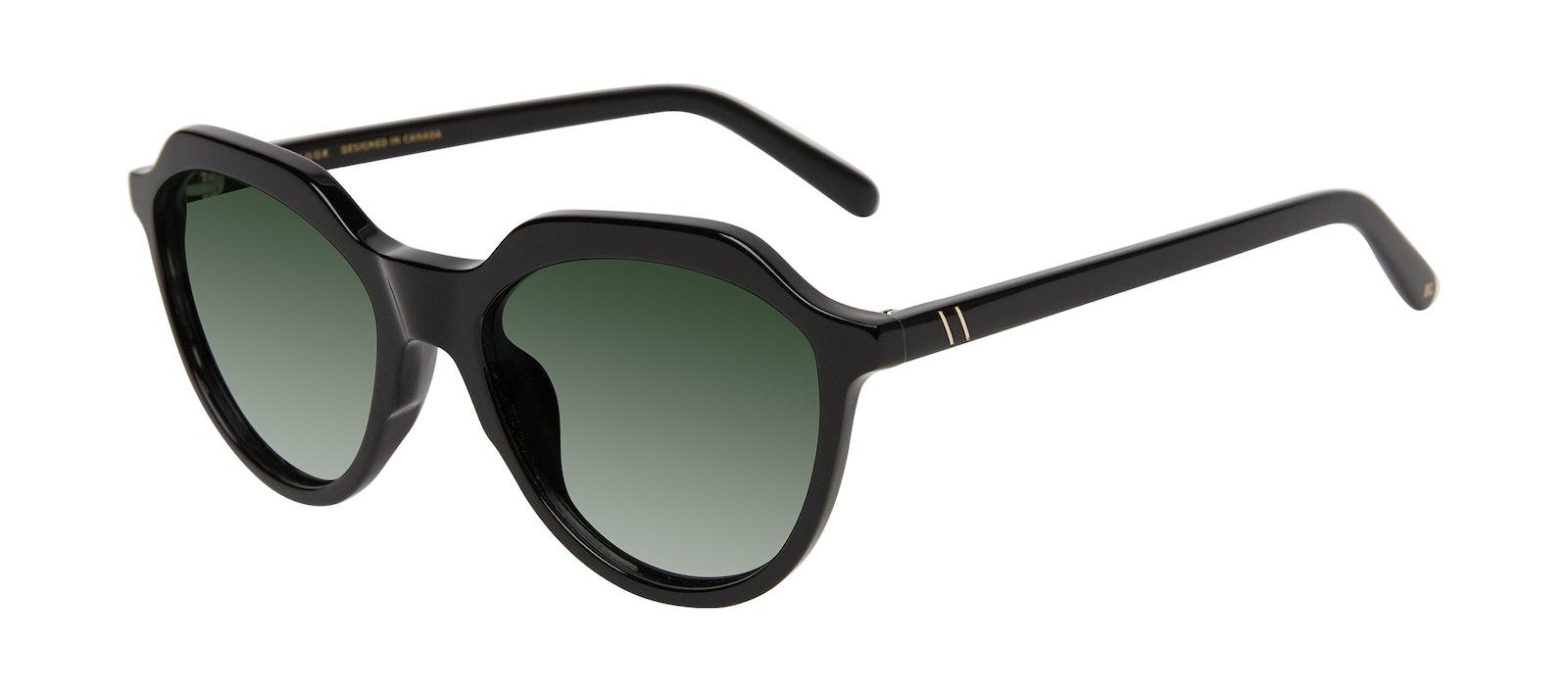 Affordable Fashion Glasses Round Sunglasses Women Jetsetter Black Tilt