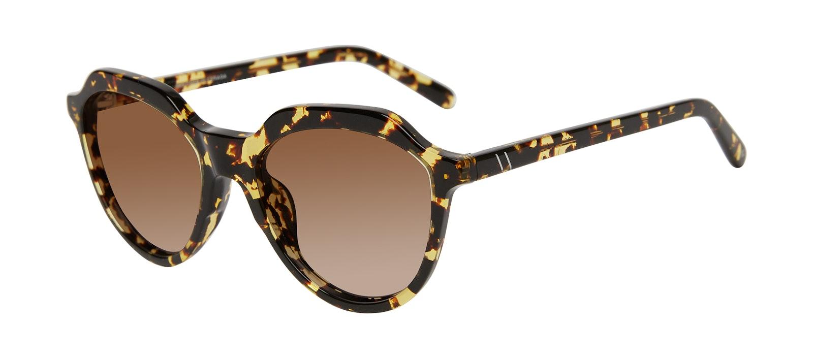 Affordable Fashion Glasses Round Sunglasses Women Jetsetter Gold Flake Tilt