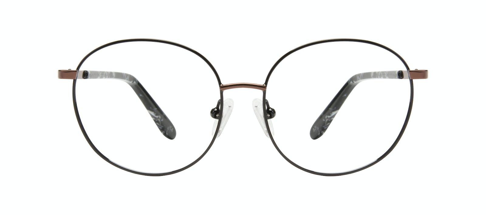 07662b93c18 Affordable Fashion Glasses Round Eyeglasses Women Joy Petite Black Copper  Front