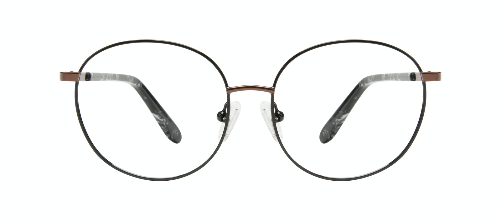 Affordable Fashion Glasses Round Eyeglasses Women Joy Petite Black Copper Front