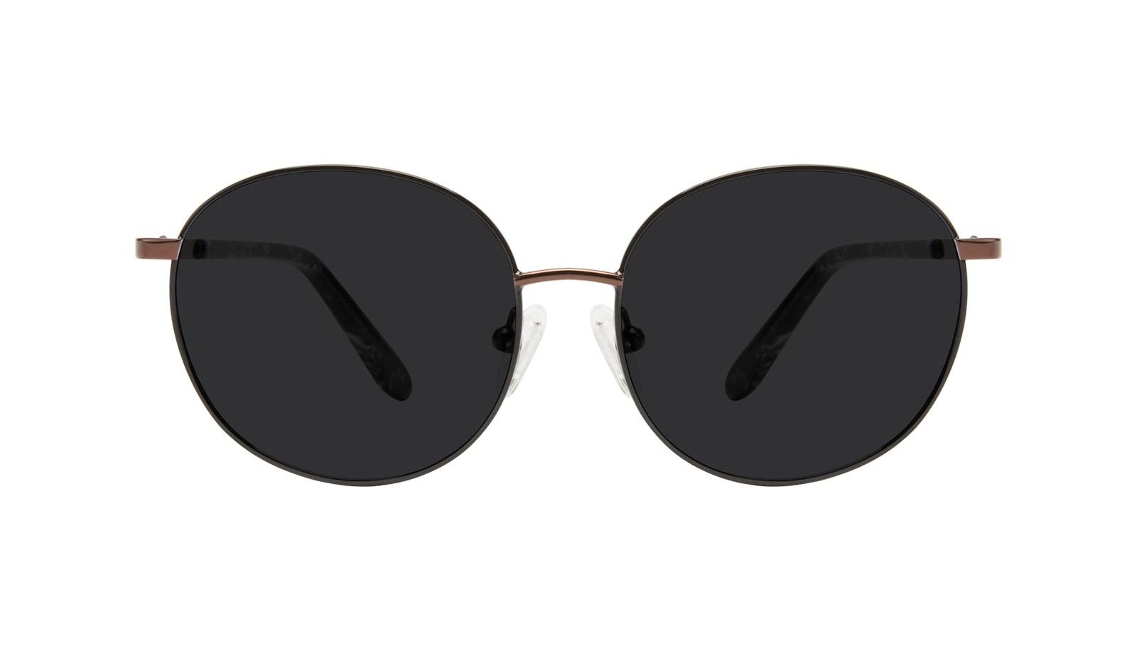 Affordable Fashion Glasses Round Sunglasses Women Joy Petite Black Copper