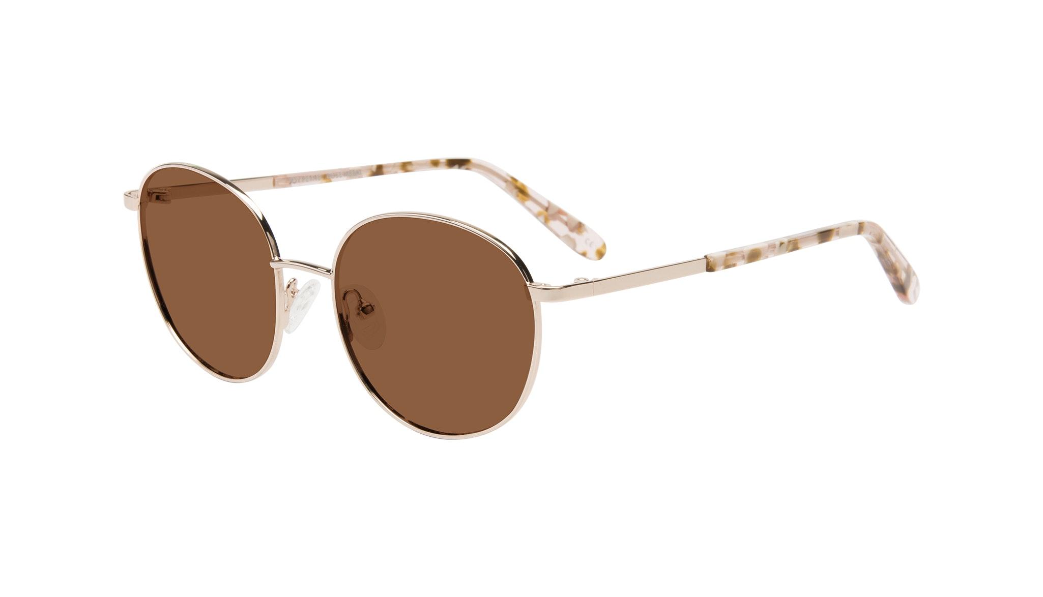 Affordable Fashion Glasses Round Sunglasses Women Joy Petite Rose Metal Tilt