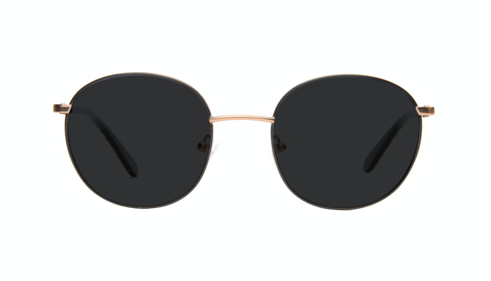 Affordable Fashion Glasses Round Sunglasses Women Joy Black Copper