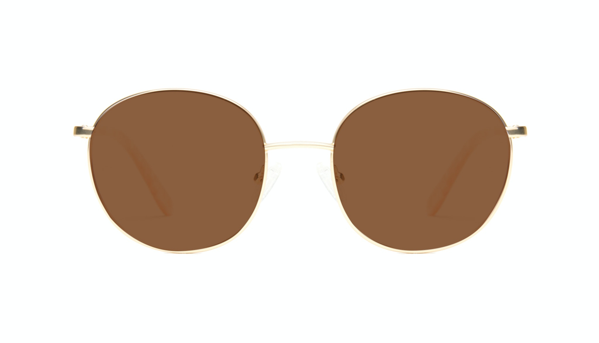 Affordable Fashion Glasses Round Sunglasses Women Joy Gold Marble Front