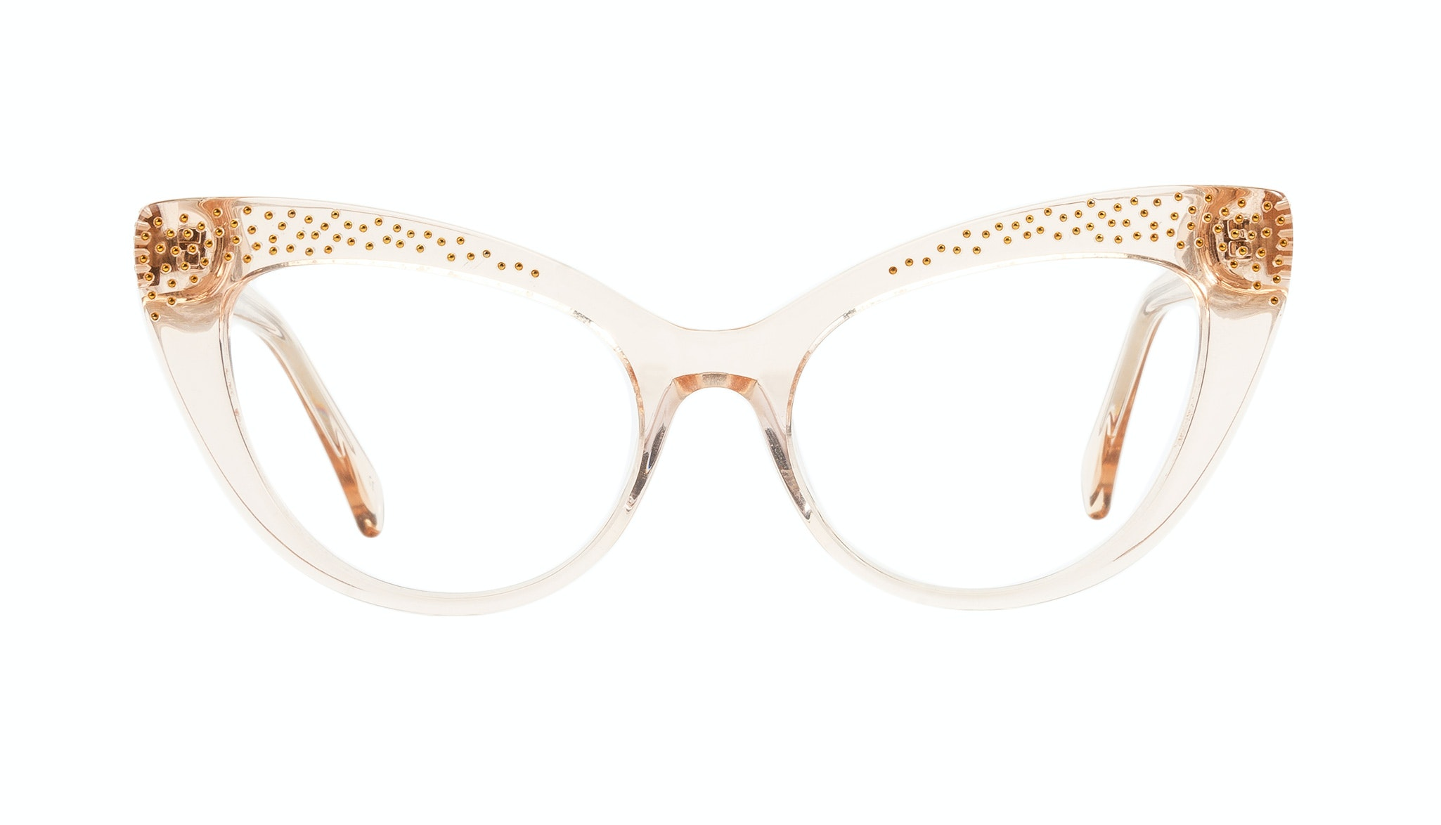 Affordable Fashion Glasses Cat Eye Daring Cateye Eyeglasses Women Keiko Shug Blond Front