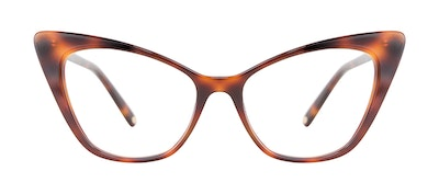 Affordable Fashion Glasses Cat Eye Eyeglasses Women Keiko Lynn Jackson Brown Front