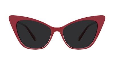 Lunettes tendance Oeil de chat Lunettes de soleil Femmes Keiko Lynn Ryder Red Face