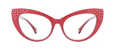 Lunettes tendance Oeil de chat Lunettes de vue Femmes Keiko Amanda Red Face